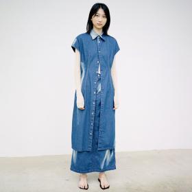 サンフェードブリーチデニムスカート WOMEN