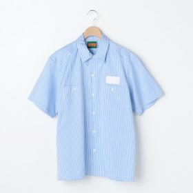 ストライプ 半袖ワークシャツ MEN