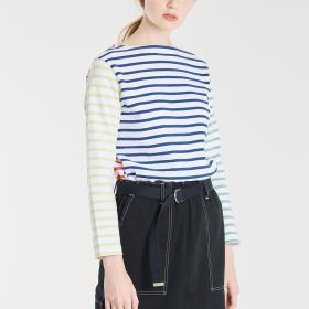 【OUTLET】コットンロード フレンチバスクシャツ(HARLEQUIN) WOMEN
