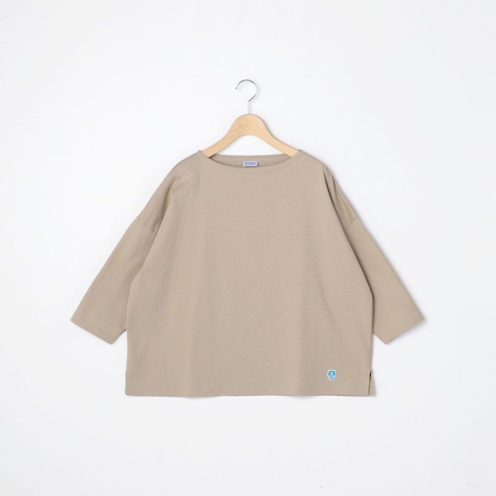 【先行予約】コットンモヨン ボートネック七分袖Tシャツ SOLID WOMEN