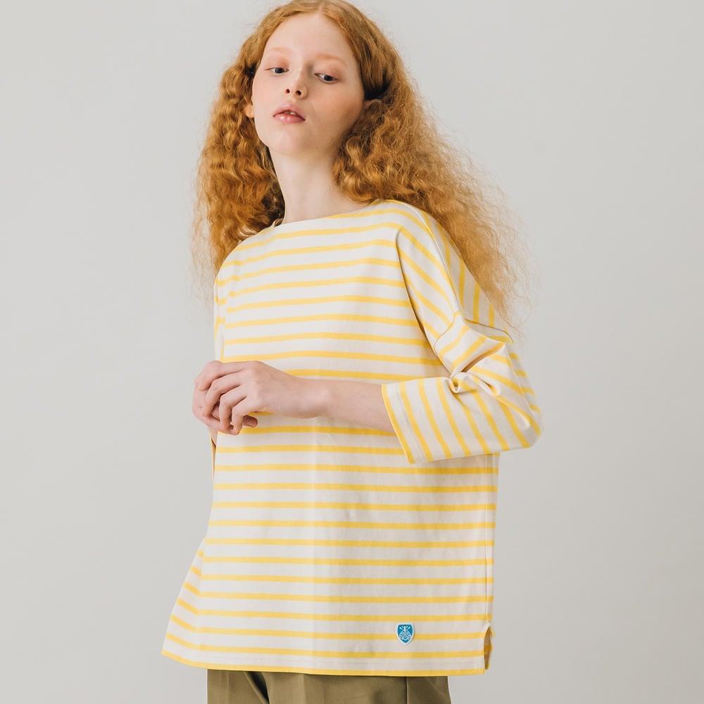 【フェア対象】コットンモヨン ボートネック七分袖Tシャツ WOMEN