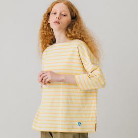 【先行予約】コットンモヨン ボートネック七分袖Tシャツ WOMEN