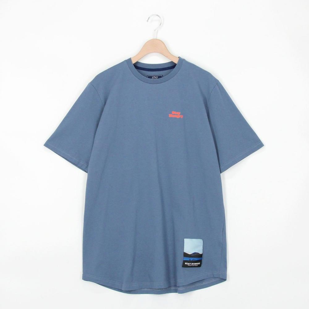 ラウンドヘム半袖Tシャツ Bball MEN