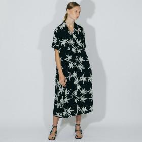 オープンカラーシャツドレス WOMEN