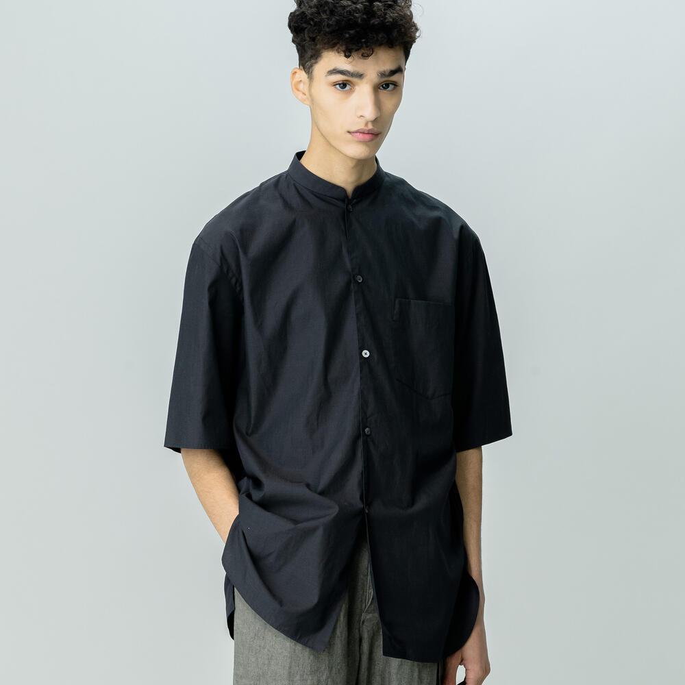シャンブレースタンドカラーシャツ MEN