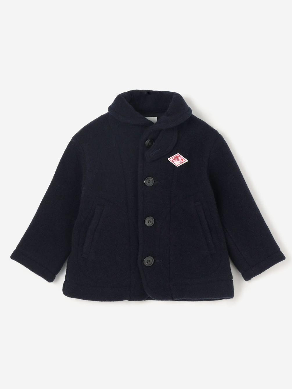 DANTON(ダントン)キッズ ウールライトパイル 丸襟ジャケット
