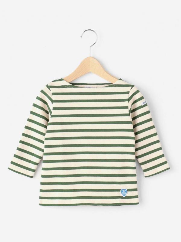 ORCIVAL(オーシバル)キッズ コットンロードフレンチバスクシャツ