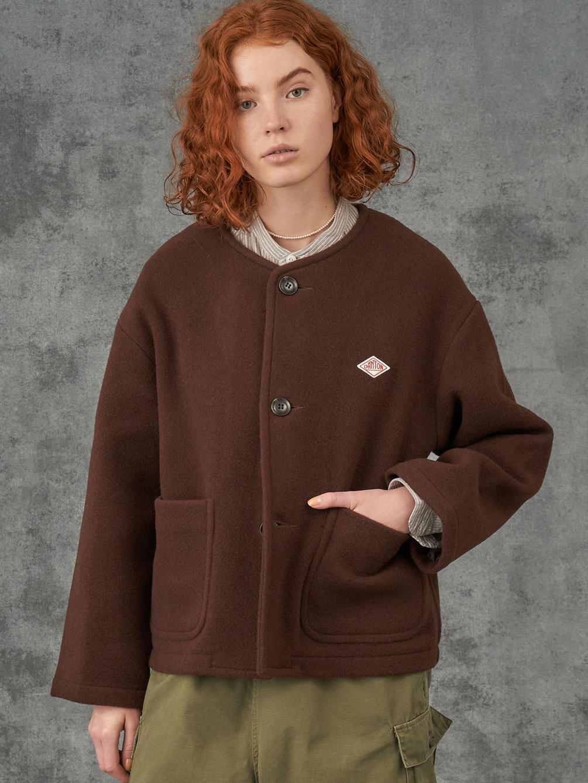 【先行予約】ウールライトパイル カラーレスジャケット WOMEN