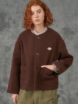 ウールライトパイル カラーレスジャケット WOMEN
