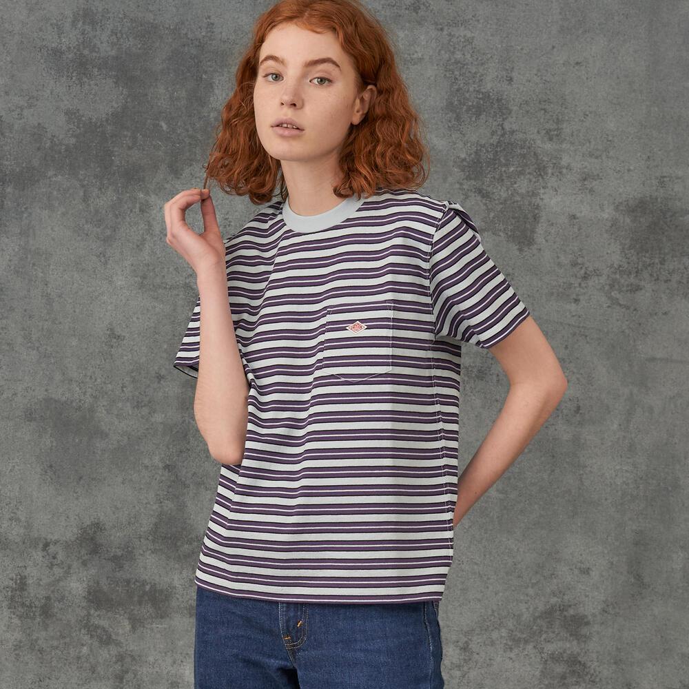 ポケットTシャツ STRIPE WOMEN