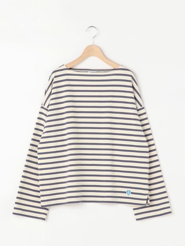 【ノベルティ対象】コットンロード ワイドフレンチバスクシャツ WOMEN