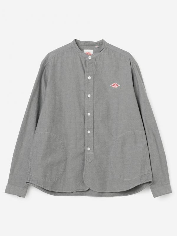 DANTON(ダントン)長袖バンドカラーシャツ VSS WOMEN