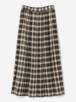 【先行予約】ウールチェック タックギャザープリーツスカート WOMEN