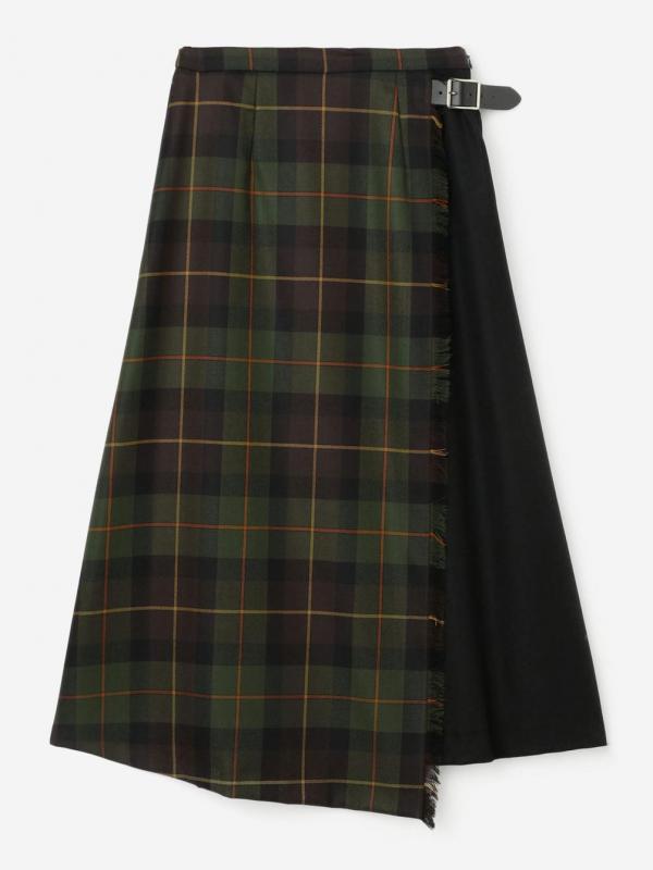 O'NEIL OF DUBLIN(オニール・オブ・ダブリン)コンビネーションロングフレアスカート WOMEN