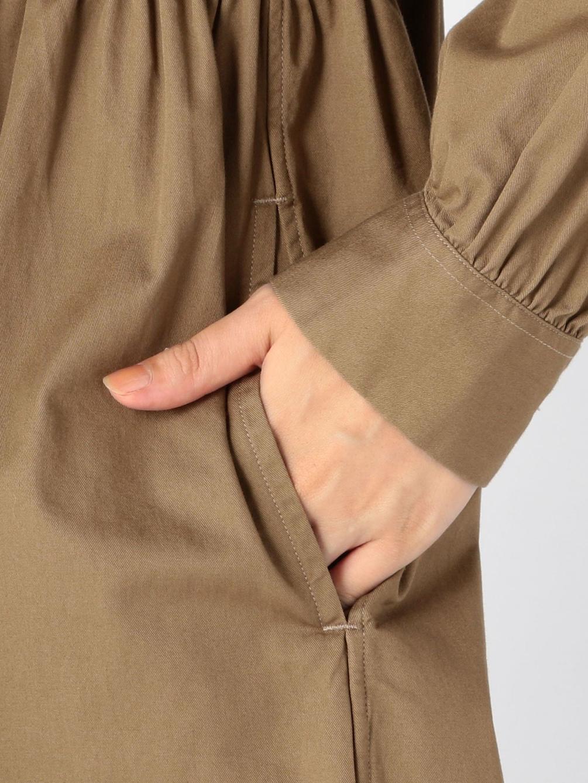 〈別注〉コットンツイル ギャザーシャツワンピース WOMEN