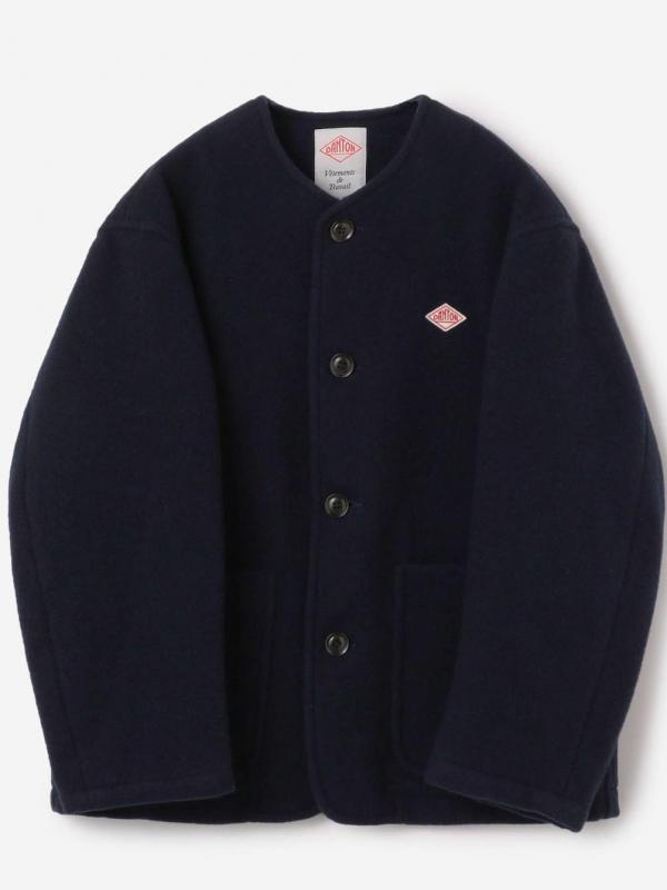 DANTON(ダントン)ウールライトパイル カラーレスジャケット MEN