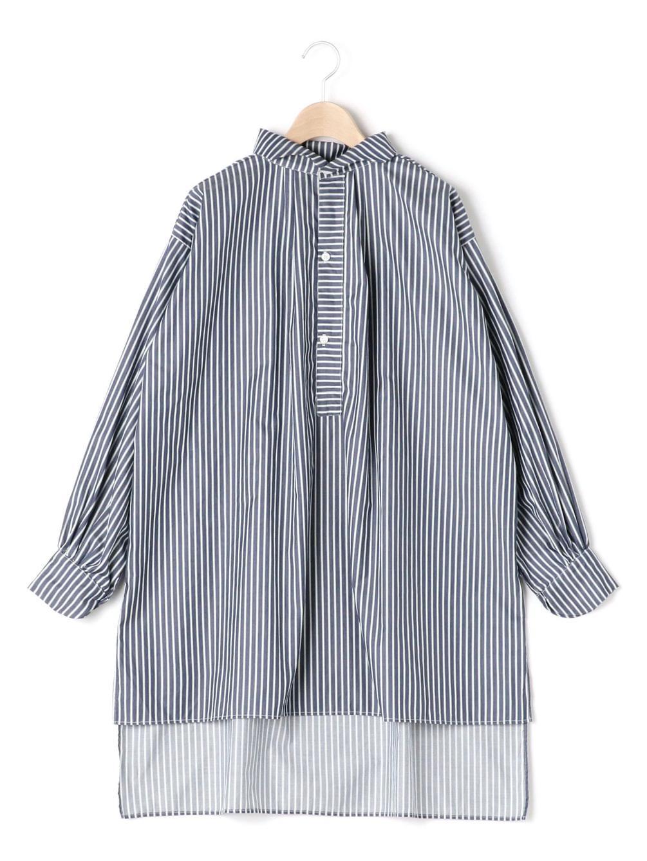 ウェーブカラーシャツ ポプリン WOMEN