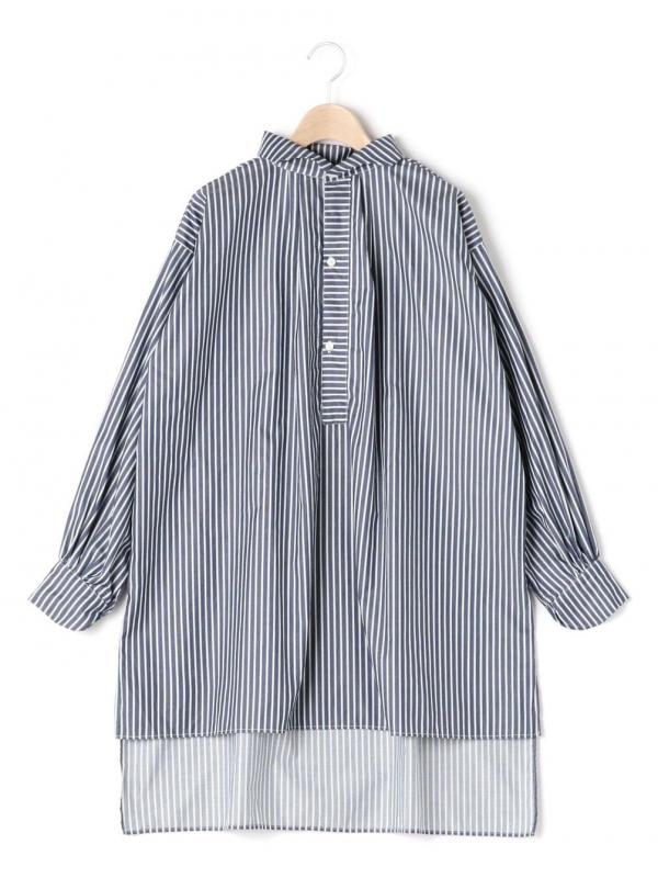 GALLEGO DESPORTES(ギャレゴデスポート)ウェーブカラーシャツ ポプリン WOMEN