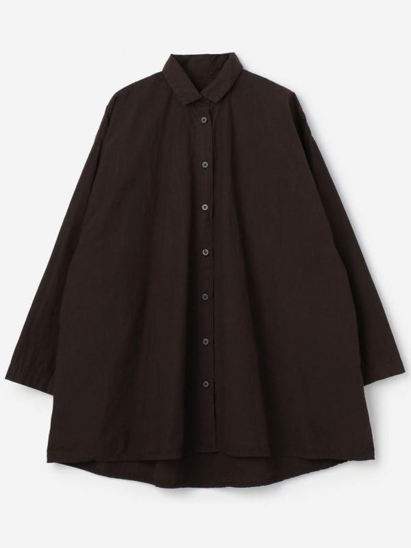 Bergfabel(バーグファベル)オーバーサイズシャツ BROWN WOMEN