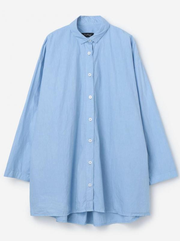 Bergfabel(バーグファベル)オーバーサイズシャツ BLUE WOMEN