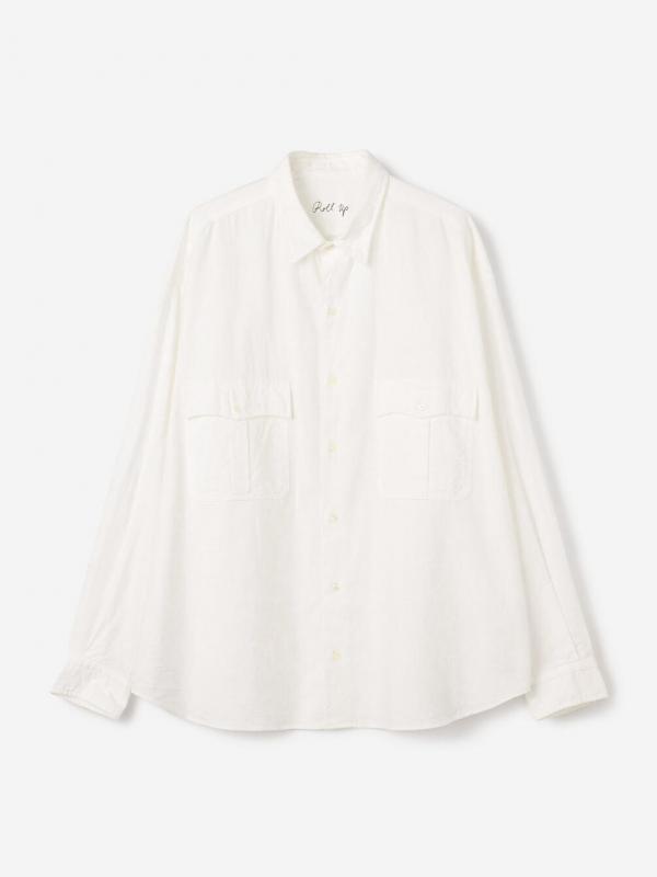 PORTER CLASSIC(ポータークラシック)ロールアップコットンシャツ MEN