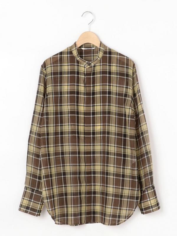 AURALEE(オーラリー)ウールポリエステル シアースタンドカラーシャツ WOMEN