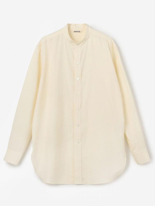 AURALEE(オーラリー)フィンクスツイル スタンドカラーシャツ WOMEN
