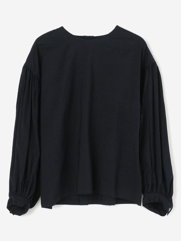 HAVERSACK(ハバーサック)〈別注〉 シルクウール バックボタンシャツ WOMEN