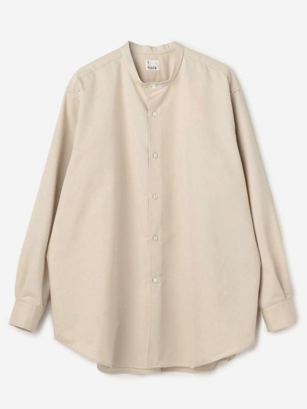 holk(ホルク)〈別注〉スタンドカラーシャツ WOMEN