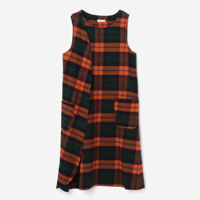 Engineered Garments(エンジニアードガーメンツ)チェックラップドレス WOMEN