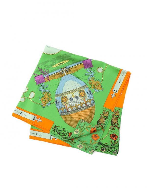 manipuri(マニプリ)シルクスカーフ フラワーバルーン 65×65