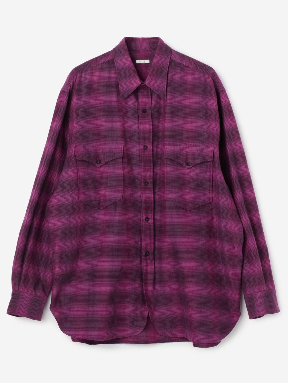 COMOLI(コモリ)ウールシルク ワークシャツ MEN