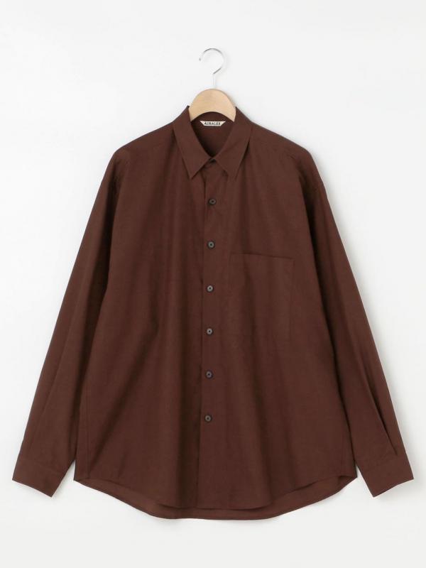 AURALEE(オーラリー)ウォッシュドフィンクスツイル ビッグシャツ MEN
