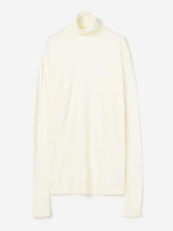 unfil(アンフィル)メリノジャージー タートルネックTシャツ WOMEN