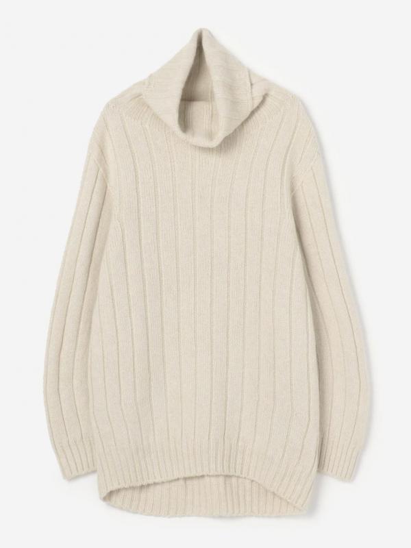 unfil(アンフィル)ベビーアルパカ タートルネックセーター WOMEN