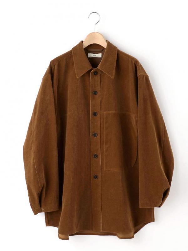 unfil(アンフィル)シャンカールコットンコーデュロイ シャツジャケット WOMEN