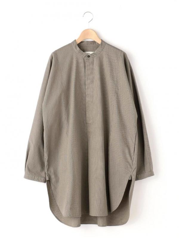 unfil(アンフィル)エジプトコットンツイル オーバーサイズシャツ WOMEN