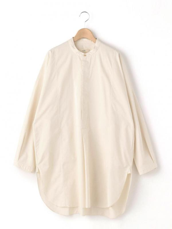 unfil(アンフィル)エジプトコットンサテン オーバーサイズシャツ WOMEN