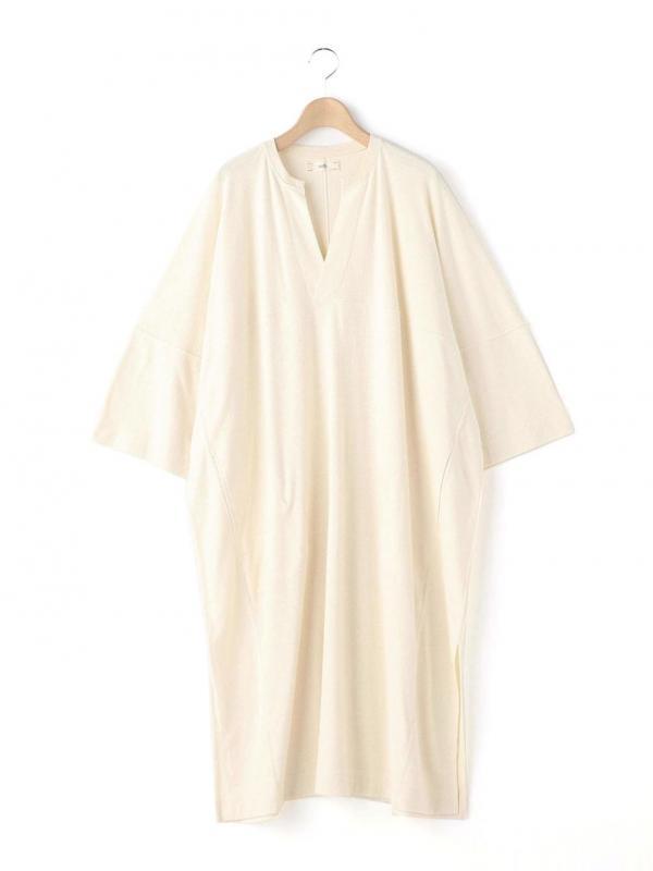 unfil(アンフィル)ローシルクジャージー カフタンドレス WOMEN