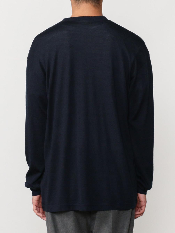 ウォッシャブルウール 刺繍ロゴTシャツ MEN