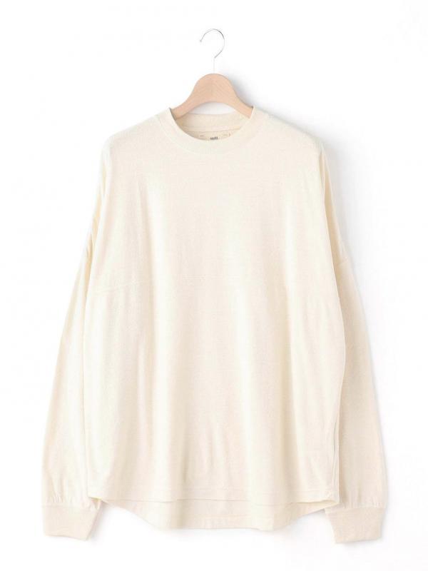 unfil(アンフィル)ローシルクジャージー ロングスリーブTシャツ MEN