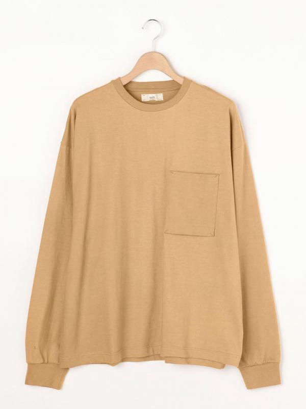 unfil(アンフィル)コットンフランネル ポケットTシャツ MEN