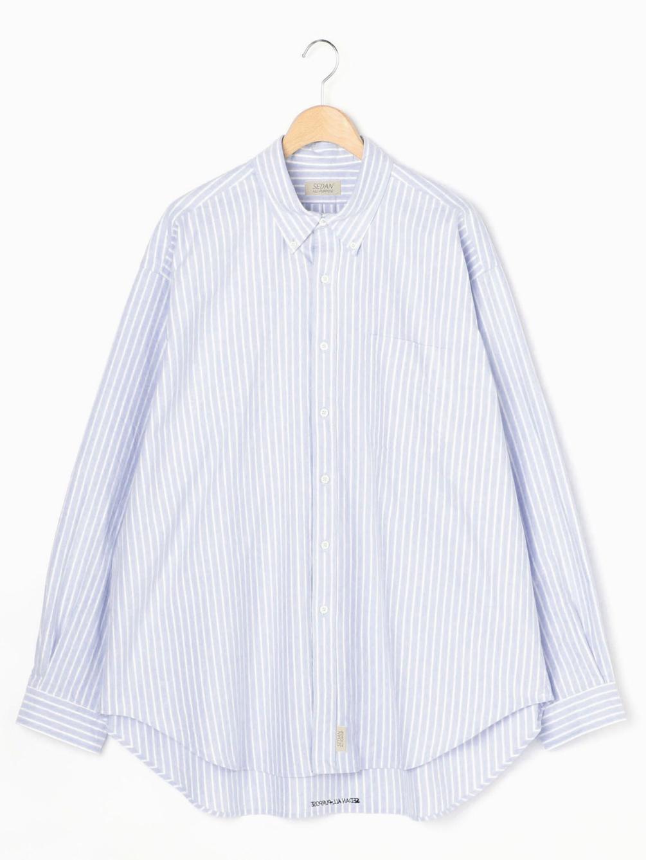 オックスフォードストライプ ボタンダウンシャツ MEN