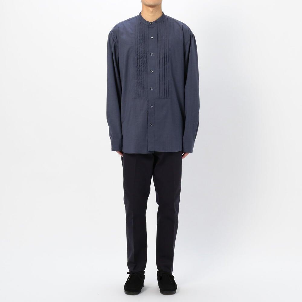 バンドカラープリーツシャツ MEN