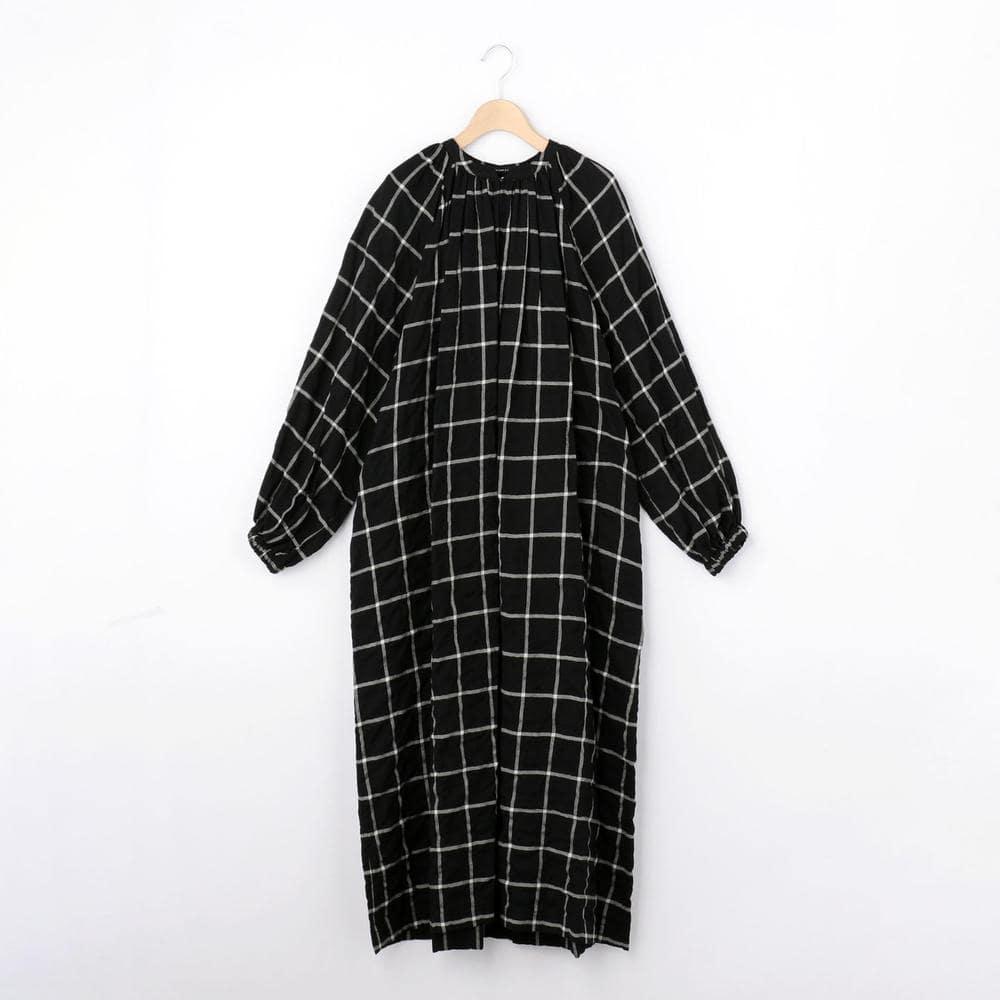 ギャザーシャツドレス CHECK WOMEN