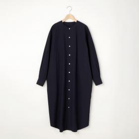 ノーカラーシャツドレス SOLID WOMEN