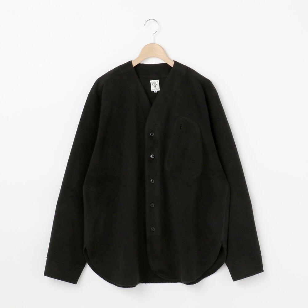 ()【OUTLET】フリース ノーカラーシャツ MEN