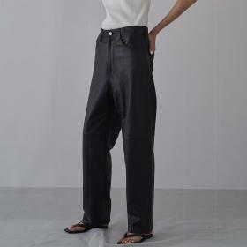 ラムレザー5ポケットパンツ WOMEN