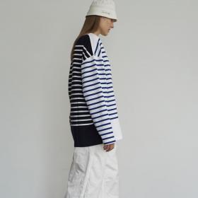 ビッグボートネックTシャツ WOMEN