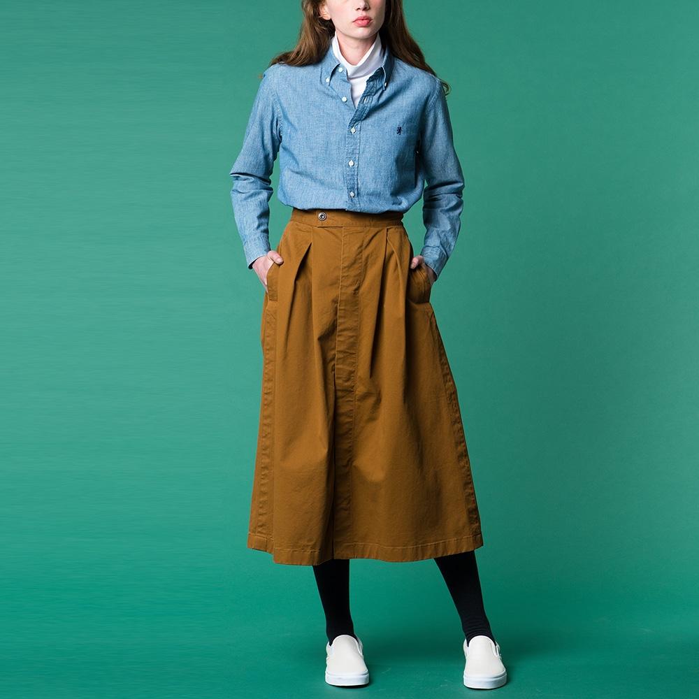 長袖ボタンダウンシャツ COD WOMEN